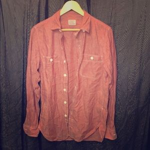 J. Crew Tops - J. Crew Vintage Light Red Button Up Shirt